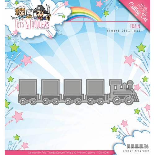 Yvonne Creations- Die- Tots & Toddlers, Train: YCD10091