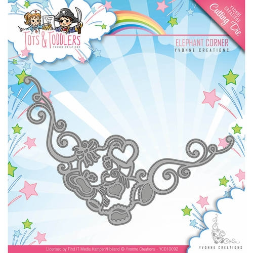 Yvonne Creations- Die- Tots & Toddlers, Elephant corner: YCD10092