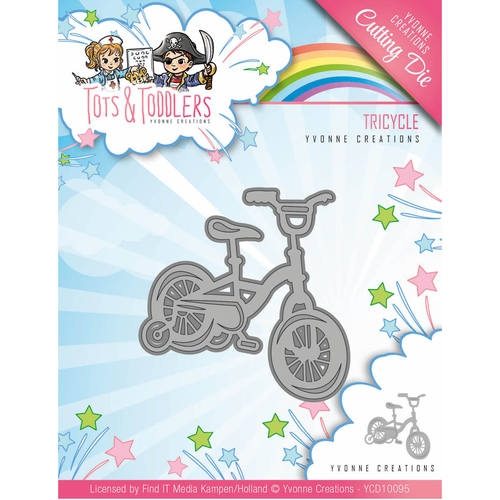 Yvonne Creations- Die- Tots & Toddlers, Driewieler: YCD10095