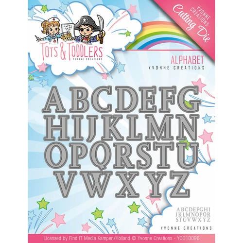 Yvonne Creations- Die- Tots & Toddlers, Alphabet: YCD10096