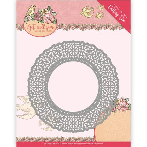 Yvonne Creations- Die- Get well Soon- Flower Doily: YCD10101