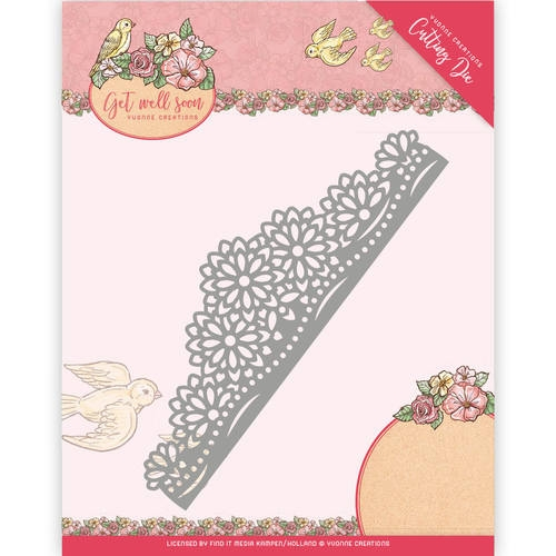 Yvonne Creations- Die- Get well Soon- Flower border: YCD10102