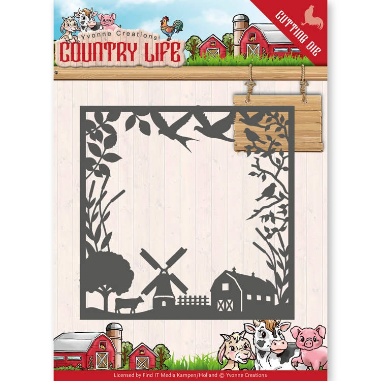 Yvonne Creations- Die- Country Life Frame : YCD10123