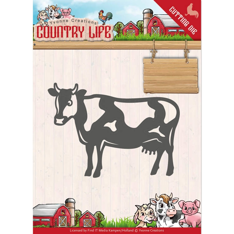 Yvonne Creations- Die- Country Life Cow : YCD10128