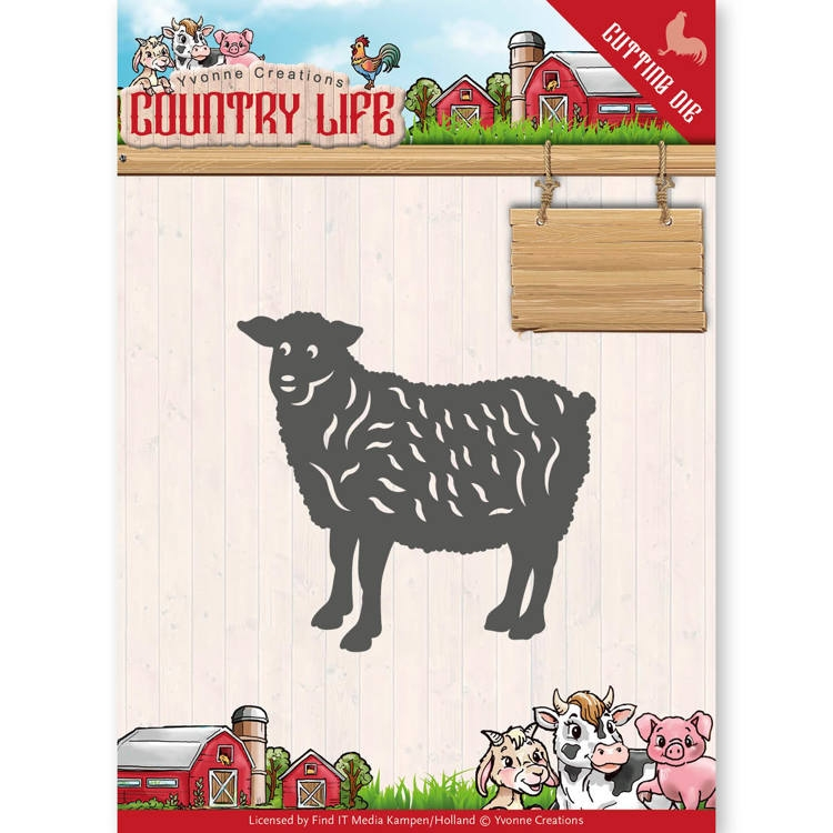 Yvonne Creations- Die- Country Life Sheep : YCD10129