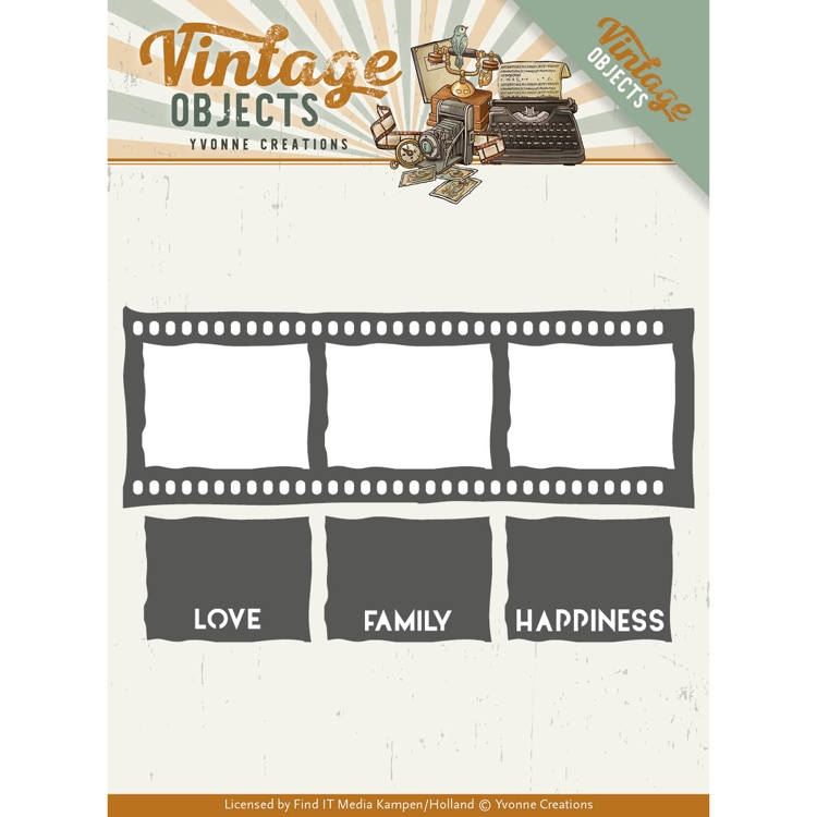 Yvonne Creations- Die- Vintage Objects- Film Strip : YCD10133