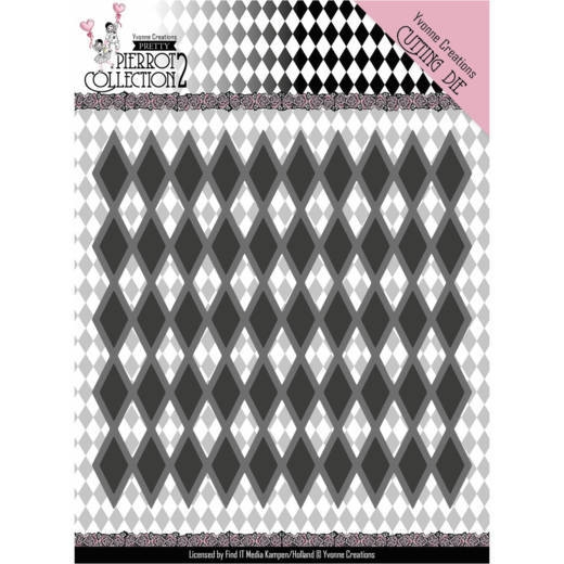 Yvonne Creations- Dies- Pretty Pierrot 2- Diamond Pattern: YCD10161