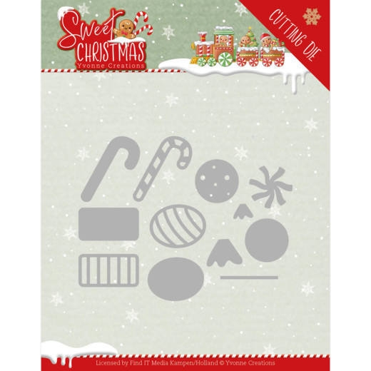 Yvonne Creations- Dies- Sweet Christmas Candy: YCD10183