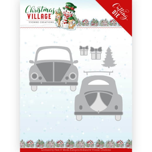 Yvonne Creations- Dies- Christmas Village- Christmas Car: YCD10207