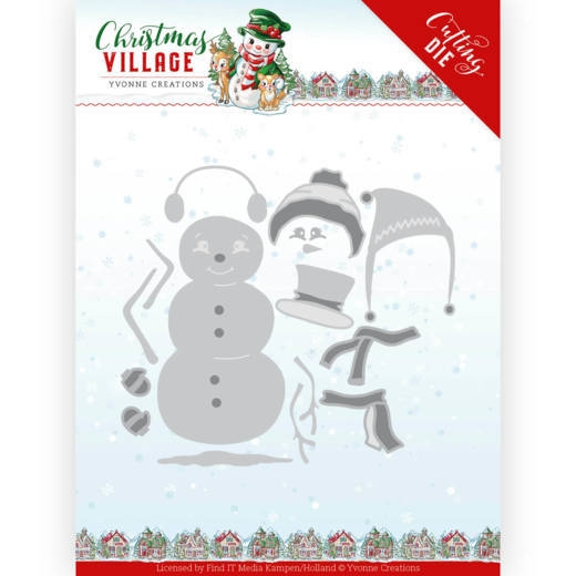Yvonne Creations- Dies- Christmas Village- Build Up Snowman: YCD10208