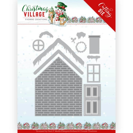 Yvonne Creations- Dies- Christmas Village- Build Up House: YCD10209