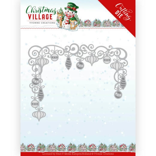 Yvonne Creations- Dies- Christmas Village- Christmas Baubles: YCD10211