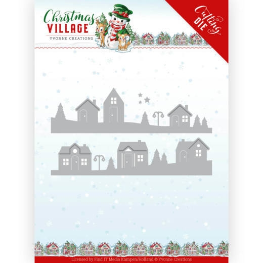 Yvonne Creations- Dies- Christmas Village- House Scene: YCD10213