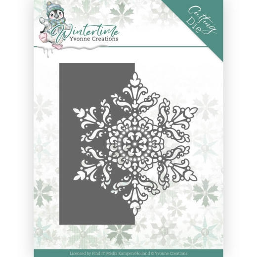 Yvonne Creations- Dies- Winter Time- Snowflake border: YCD10215