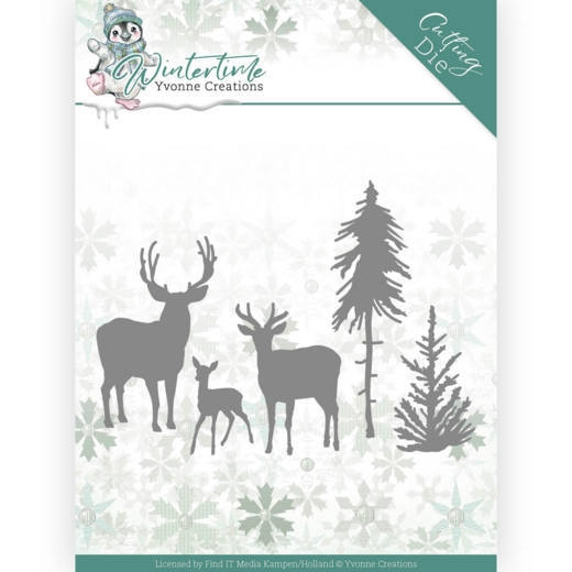 Yvonne Creations- Dies- Winter Time- Deer in the Forest: YCD10217