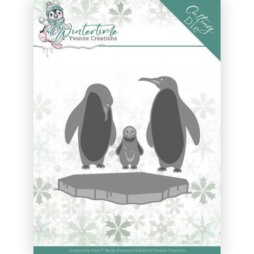 Yvonne Creations- Dies- Winter Time- Penquins on Ice: YCD10218