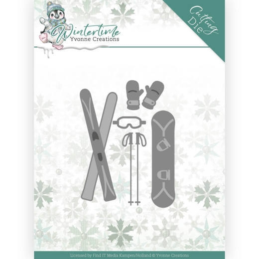 Yvonne Creations- Dies- Winter Time- Ski Accessoires: YCD10219