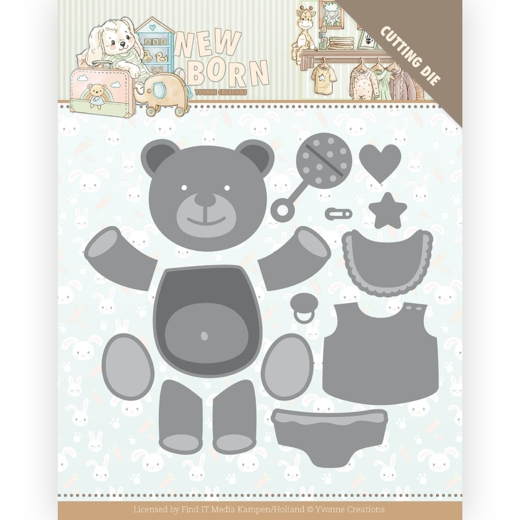 Yvonne Creations- Dies- Newborn- Build up bear: YCD10232