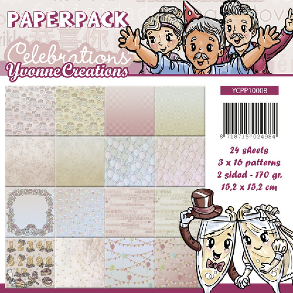 Yvonne Creations- Paperpack- Celebrations: YCPP10008