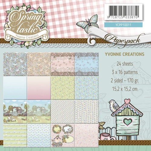 Yvonne Creations- Paperpack- Spring tastic; YCPP10011