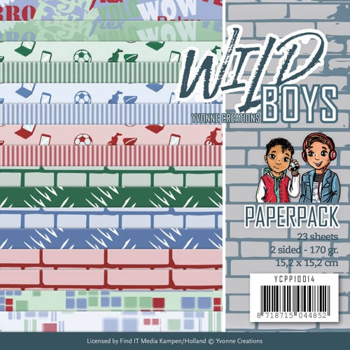 Yvonne Creations- Paperpack-Wild Boys: YCPP10014