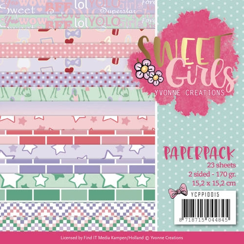 Yvonne Creations- Paperpack-Sweet Girls: YCPP10015