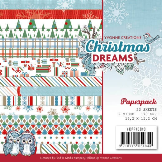 Yvonne Creations- Paperpack- Christmas Dreams: YCPP10019