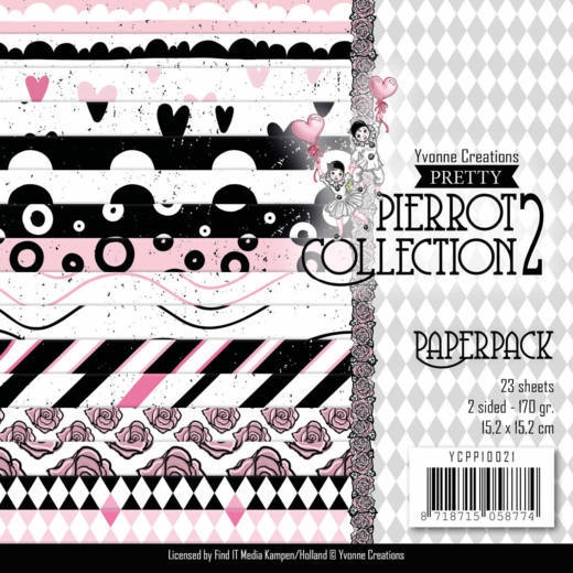 Yvonne Creations- Paperpack- Pretty Pierrot 2: YCPP10021
