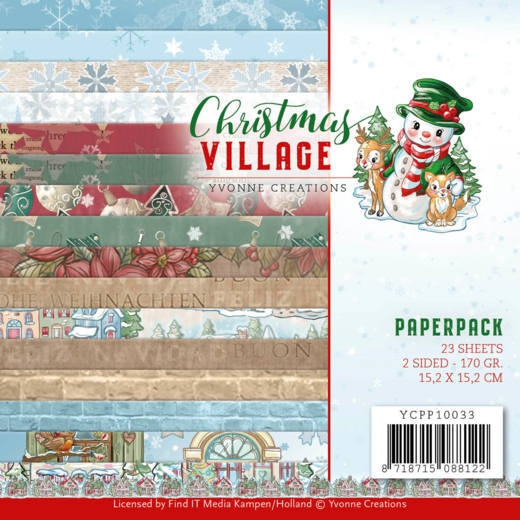 Yvonne Creations- Paperpack- Christmas Village: YCPP10033