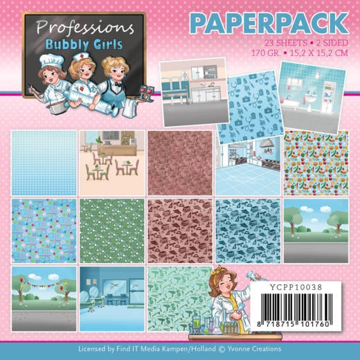 Yvonne Creations- Paperpack- Bubbly Girls- Professions: YCPP10038